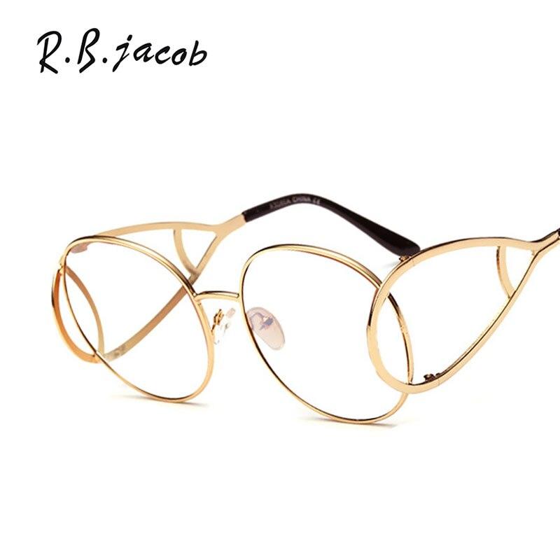Designer round Cat Eye occhiali da sole vintage specchio piatto metallo retrò donna