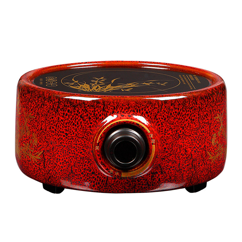 Hot Plates Red glaze electric ceramic furnace. Boiled iron pot boiling tea stove. wholesale tea cans of yixing yixing tea pot pot full catty installed bright glaze mixed batch