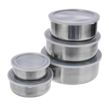 Mixing-Bowls Utensil Plastic Stainless-Steel Kitchen Lunch-Boxes Clear Quality Portable