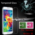 For Samsung Galaxy S5 safety Tempered Glass Thin HD protective glass on the samsung galaxy s5 glass free shipping