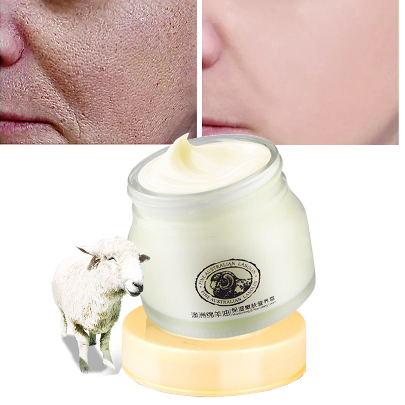 Anti-Aging Face Cream For Dry Skin Care Sheep Oil Moisturizing Lifting Firming Repair Facial Day Nitght Creams 90G Whitening D image