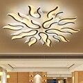Современная новая акриловая Светодиодная потолочная люстра белого цвета для гостиной  спальни  люстра  lampadario Led