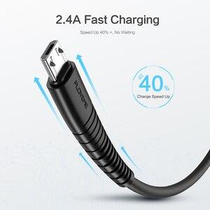 Image 5 - Floveme micro cabo usb 5v 2.4a carregamento de dados carregador rápido cabo para samsung xiaomi telefone carregador cabel microusb cabo liso fio