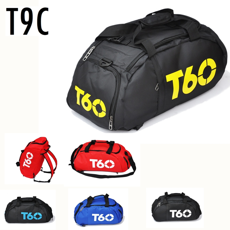 Three Use Nylon Sports Bag Portable Shoulder Backpack Shoes Storage Men Women Training Fitness Gym Bag