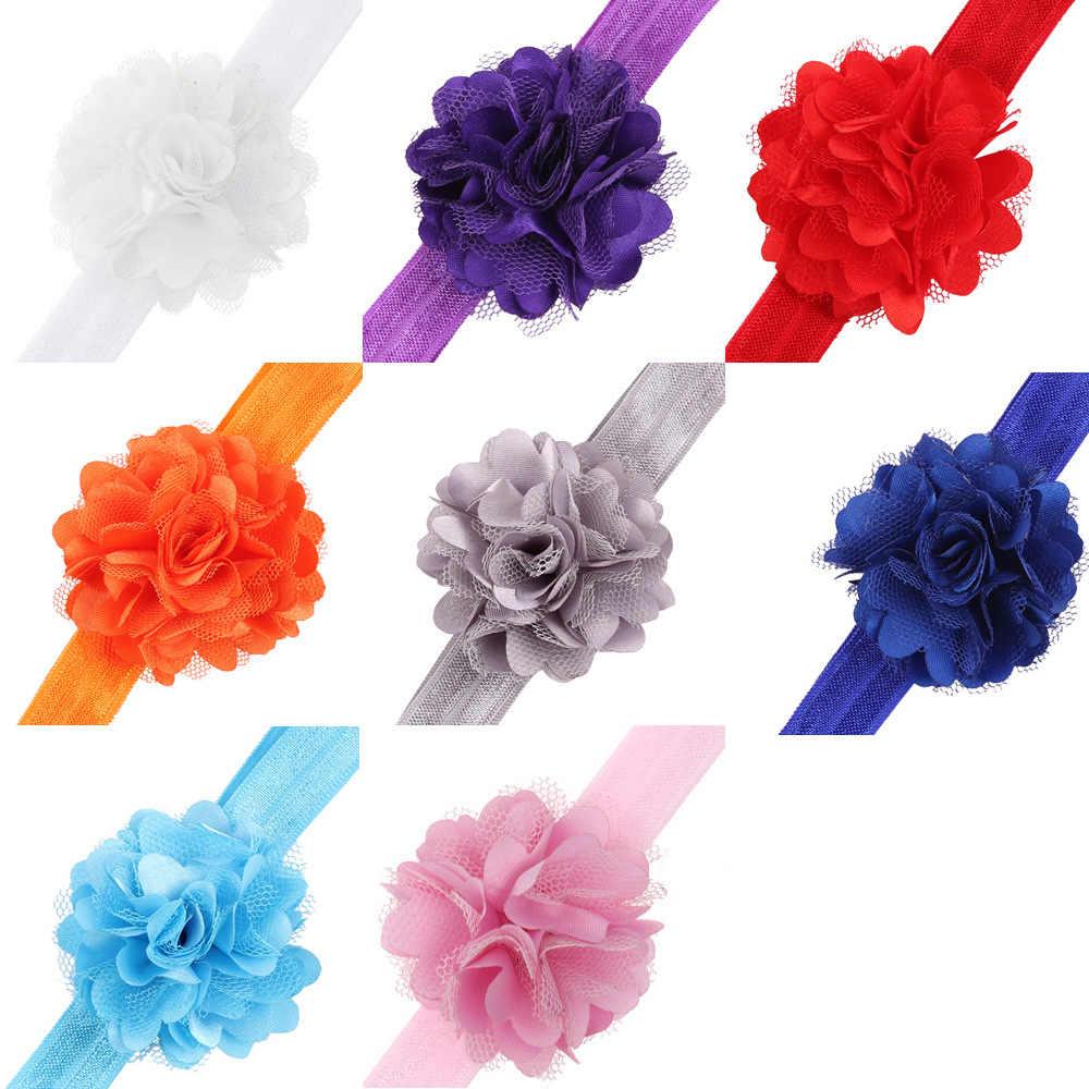 เด็กทารกแถบคาดศีรษะทารกอุปกรณ์เสริมผมวงดอกไม้ bows ทารกแรกเกิด Headwear tiara headwrap ของขวัญเด็กวัยหัดเดินผ้าพันคอริบบิ้น