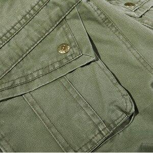 Image 4 - 2019 ใหม่ของผู้ชาย army สีเขียวขนาดใหญ่กระเป๋าตกแต่ง mens Casual กางเกง easy ฤดูใบไม้ร่วงกองทัพกางเกงขนาด 42