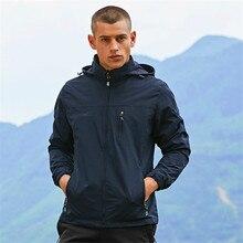 Men's Hiking Jacket Windstopper Waterproof Warm Rain Coat Outdoor Sports Camping Clothing Soft Shell Fleece Tactical Jackets