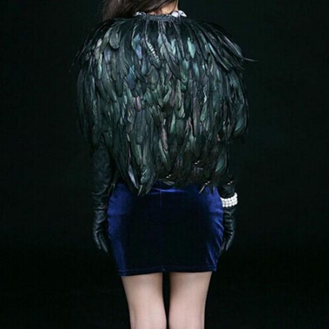 XITAO Autumn Faux Fur Vest for Women Short Paragraph Feather Coat Waistcoat Shawl High Grade Europe Feathers Hot Sale WPA-002