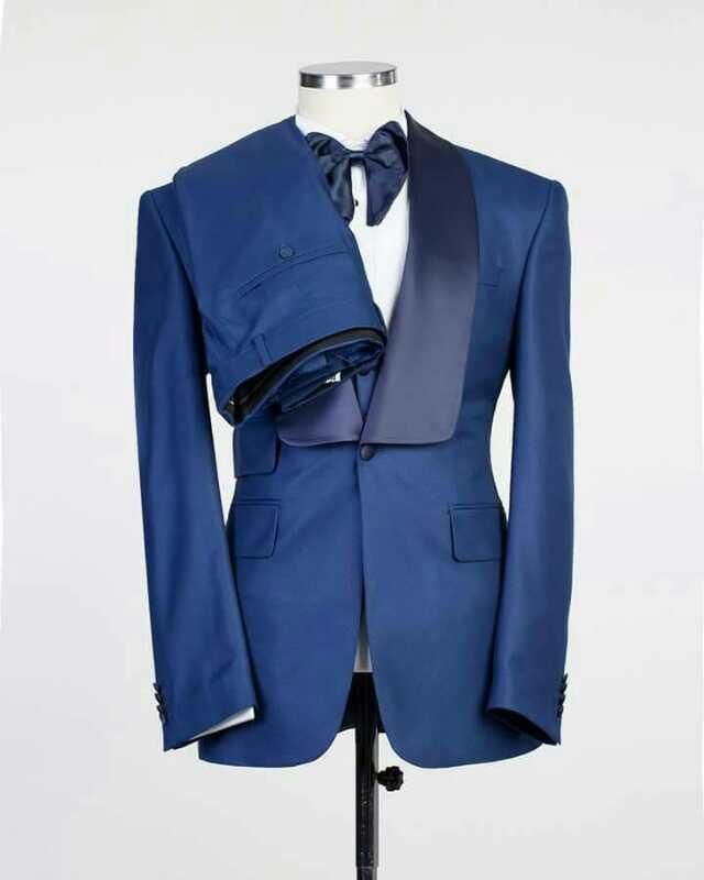 2018 Nouveau Manteau Pantalon Conceptions Bleu Costumes Italiens Slim fit Smokings 3 pièces Personnalisé Costume De Mariage pour hommes Vestidos de Fiesta