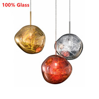 Modern Glass Pendant Light Lava Irregular Silver Hang Lamp Lighting for Living Room Home Decor Industrial Lamp Suspension