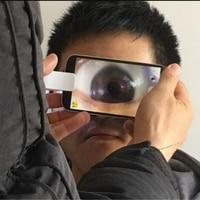 25X BUFFLE Uniwersalny Obiektyw Makro + led Światła oko Uczeń Profesjonalny Fotografowania dla iPhone 5 6 7 Plus Samsung Galaxy krawędź S7 S8 Plus