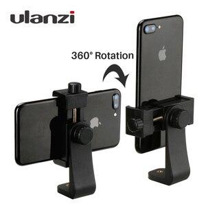 Image 1 - Adaptador de montaje en trípode con Clip para teléfono Ulanzi, soporte Vertical y Horizontal para Disparo de vídeo para iPhone X Samsung One plus