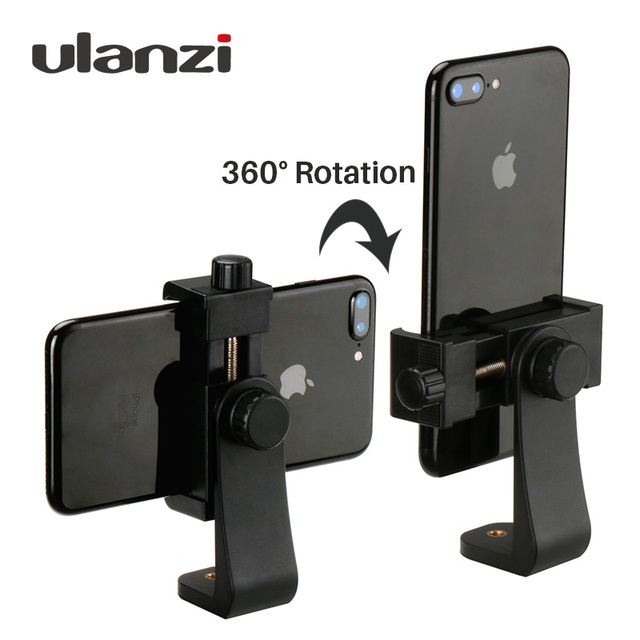 Adaptador de montaje en trípode con Clip para teléfono Ulanzi, soporte Vertical y Horizontal para Disparo de vídeo para iPhone X Samsung One plus