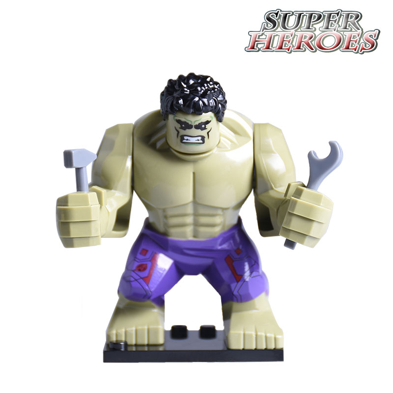 все цены на  1PC Marvel Hulk Diy Action Figures Super Heroes Avengers Building Blocks Bricks Hulk Star Wars Kids Toys Hobbies Gift Xmas  в интернете