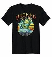 Создать футболка подсел на Иисус я сделает вас рыбаков большой рот бас рыбы Футболка Экипажа Средства ухода за кожей Шеи Для мужчин коротки...