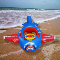 Kids Inflatable Ring Seat Baby Airplane Swimming Circle Pool Float Toys Accessories Outdoor Sport Children