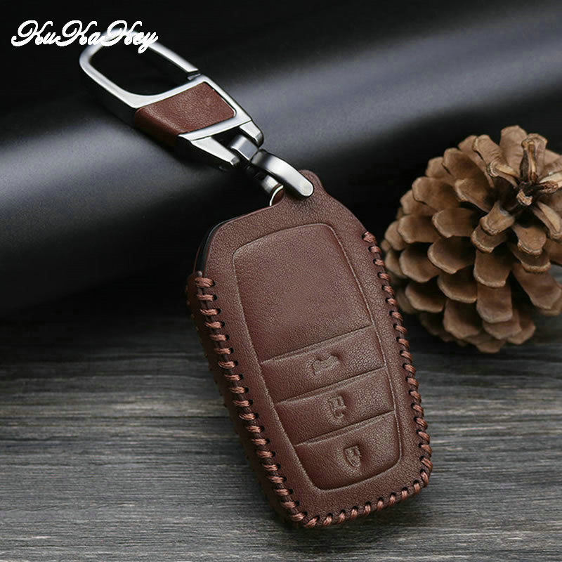 For Toyota Car key Case Cover Shell Holder For Toyota Land prado Corolla RAV4 CROWN REIZ Highlander 2 3 Button 2016 2017 2018 in Key Case for Car from Automobiles Motorcycles