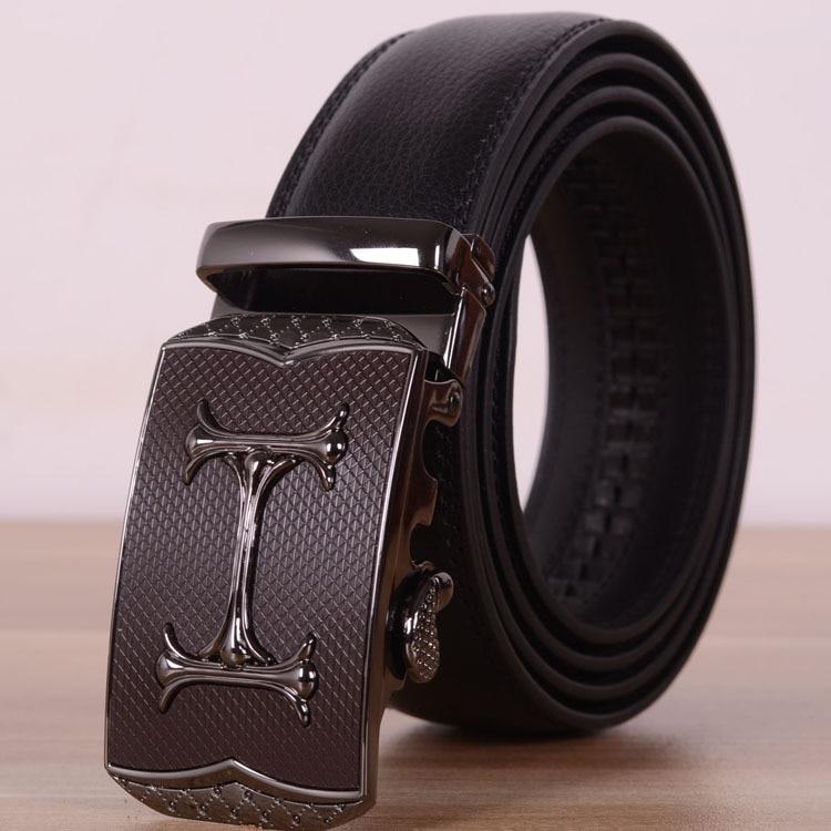 Automatic Buckle Designer Belts Men High Quality Jeans