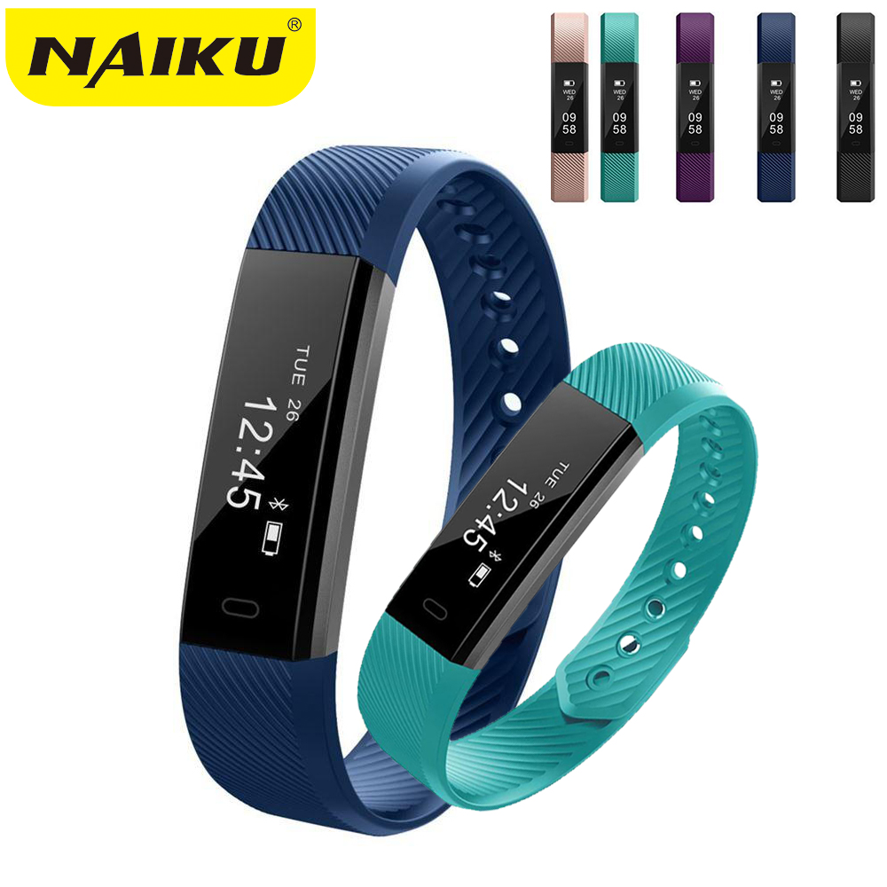 Smart Bracelet ID115Fitness Tracker Step Counter Activity Monitor Band Alarm Clock Vibration Wristband for iphone Android phone