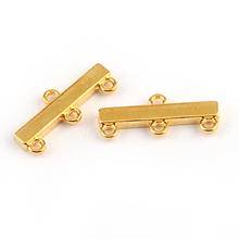 Free shipping 50pcs necklace bracelet gold rectangle connect clasps for  jewelry DIY making