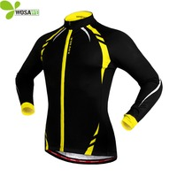 WOSAWE Thermal Fleece Long Sleeve Running Jackets Men Winter Jogging Clothing Windproof Cycling Jerseys Outdoor Sports Coat