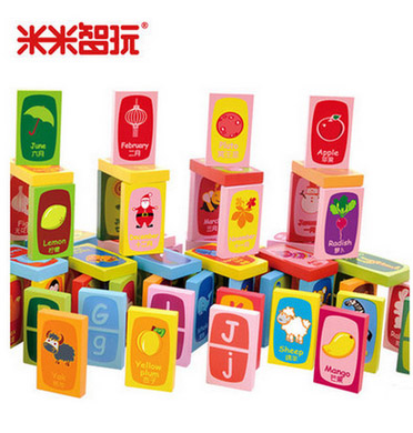 Unisex Child early Solitaire Montessori  educational toys baby Cartoon Animal Pattern  Safe wooden blocks domino Gift for Kid 100 flag currency domino wooden building blocks early childhood educational toys authentic standard kids baby boy and girl gift