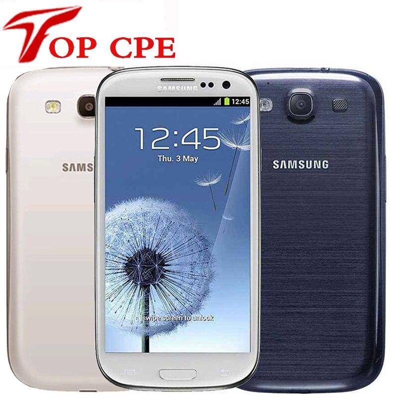 Разблокированный samsung galaxy S3 i9300, оригинальная версия стандарта ЕС, четырёхъядерный, 4 дюйма, 3G, 8 Мп, Wi-Fi, GSM, Android, GPS, 16 Гб ПЗУ