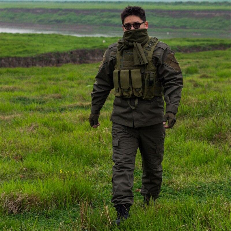 Army fans training suit black special forces training uniform camouflage suit male CS equipment combat uniform