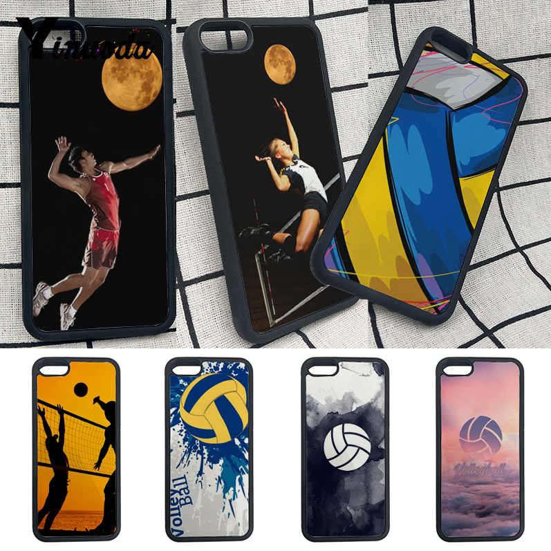 Yinuoda For iphone 7 phone case Volleyball Sports personalized phone case For iphone X 8 8plus 7plus 6s 6s Plus TPU+PC cases