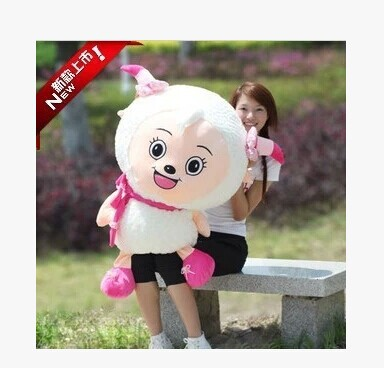 huge 100cm lovely sheep plush toy Movie anime cartoon beauty goat doll throw pillow, Christmas gift Christmas gift w5398 the huge lovely hippo toy plush doll cartoon hippo doll gift toy about 160cm pink