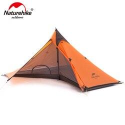 Minarete Naturehike Caminhadas Tenda Ultra-luz de Campismo Tendas Para Uma Pessoa Com Mat NH17T030-L