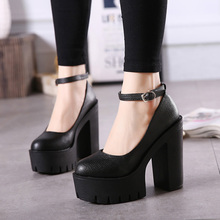 Black Nightclub 13cm Heels Women's Pumps Shoes Super High-he