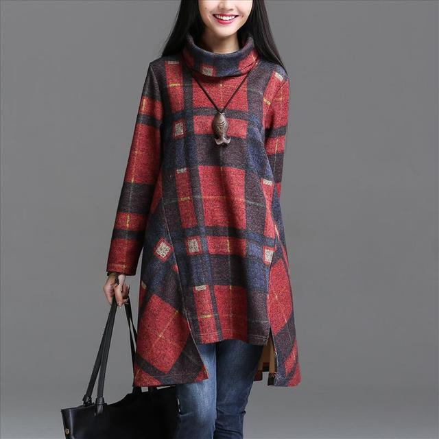 red grey plaid