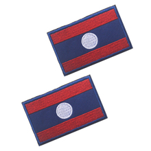 5pcs/lot 3D embroidery armband Laos flag patch Military Tactical Clothing Backpack Caps Turkey badges