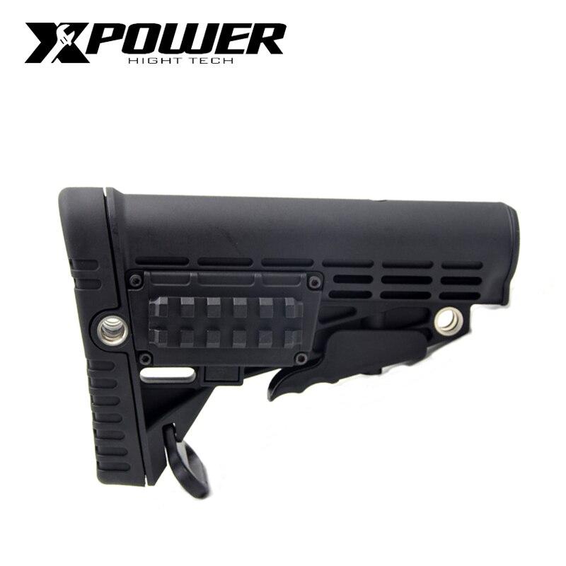 XPOWER CAA Stock For Air Gun, Soft Glue Gun AEG Gen8 Jinming 9 Hunting Accessories Air Combat Gun Paintball Accessories