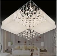 New Acrylic Crystal LED Chip Ceiling Lamp Modern Rectangle Sittingroom Bedroom Restaurant Sectional Remote Control Lamp