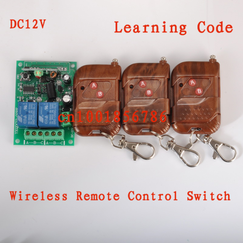 315/433MHZ 12V 2CH remote control light on off switch 3Transmitter 1Receiver Momentary Toggle Latched with Relay indicator