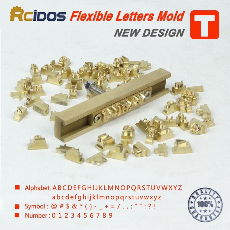 CNC 조각 금형, RCIDOS 맞춤형 번호 / 알파벳 / emojis 히브리어 황동 문자 T 타입 유연한 뜨거운 호 스탬핑 편지