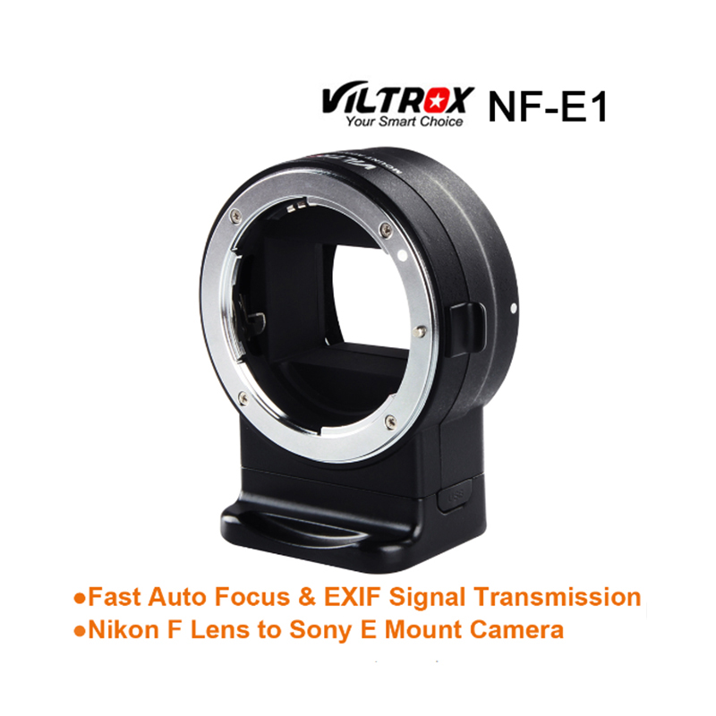 Viltrox NF-E1 AF Auto Focus EXIF Signal Lens Adapter Ring Tube For Nikon F lens to Sony E mount A9 A7III A6500 A6000 DSLR Camera