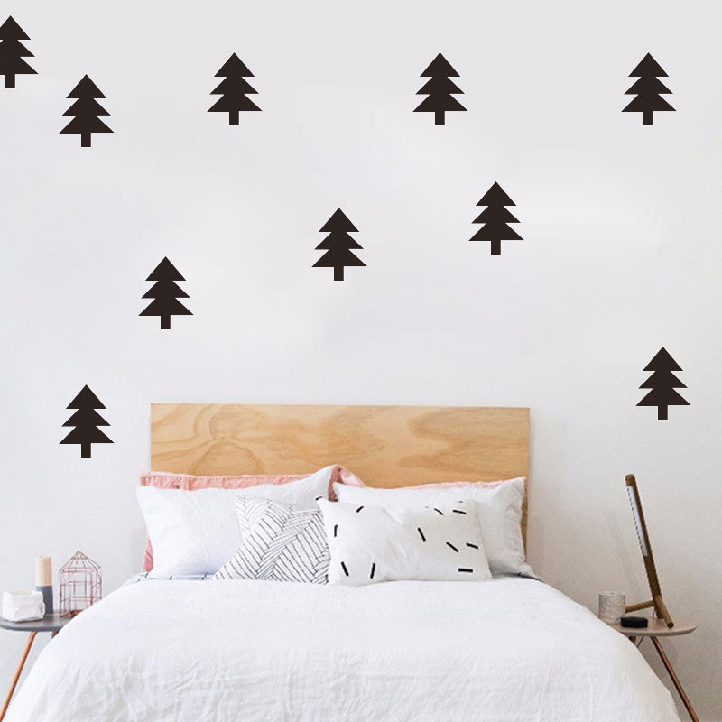 Creative DIY Pine Tree Wall Stickers Home Decor Living Room Mirror Window Wall Stickers For Kids Rooms Children Bedroom