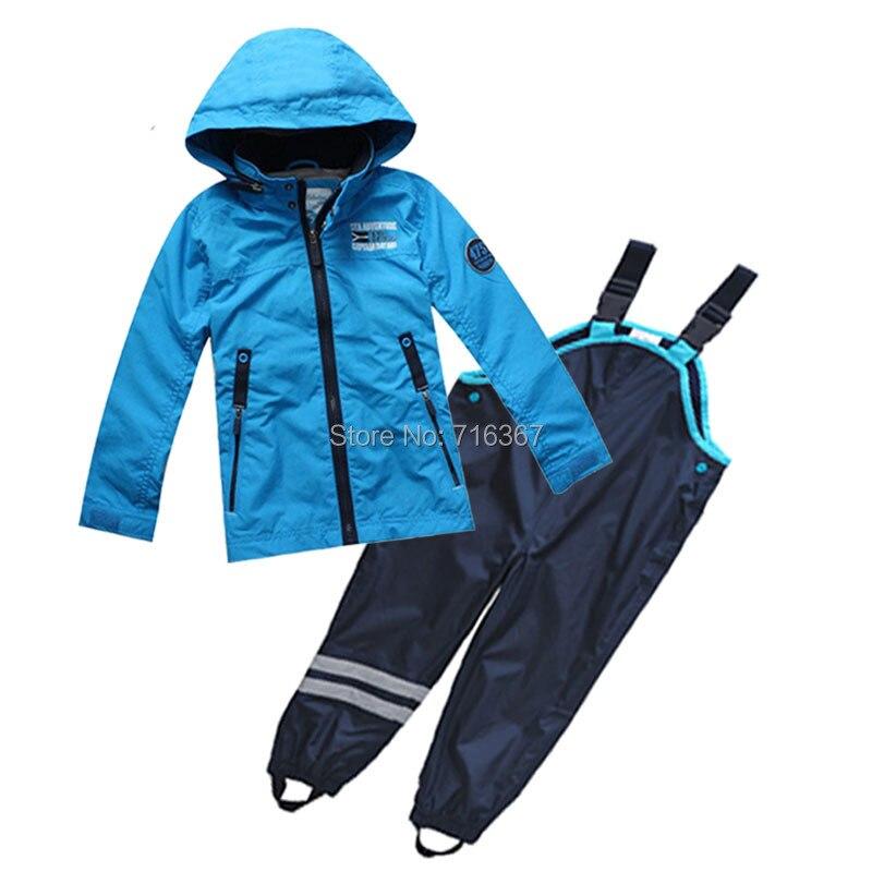 Livraison gratuite-veste et pantalon de costume coupe-vent enfants/garçons, veste bleu ciel + pantalon bleu marine, taille 98 à 128 (MOQ: 1 ensemble)