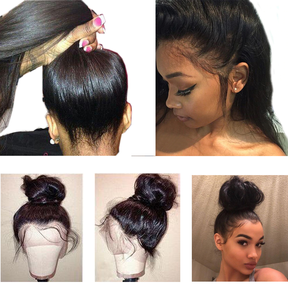 Beaudiva 150 Density 360 Lace Frontal Wig With Baby Hair Peruvian Straight Lace Front Human Hair