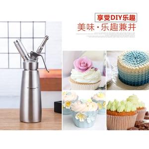 Image 4 - Kaliteli 500ML/1L Artisan krem şanti dispenseri, krem Whipper dekorasyon nozulları