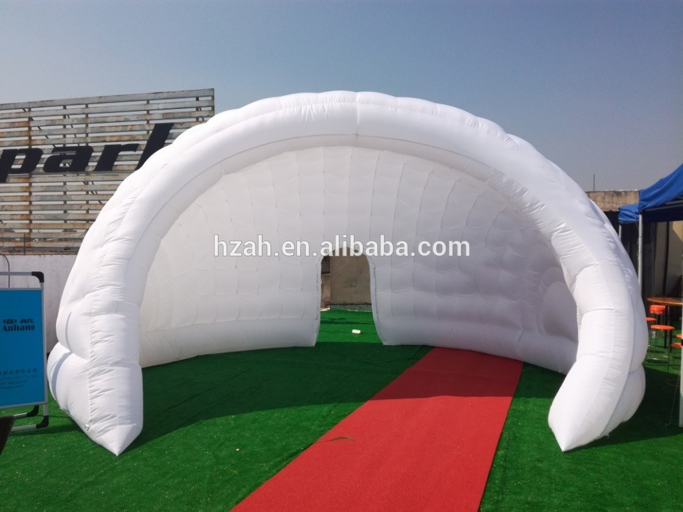 Outside White Inflatable Dome Tent