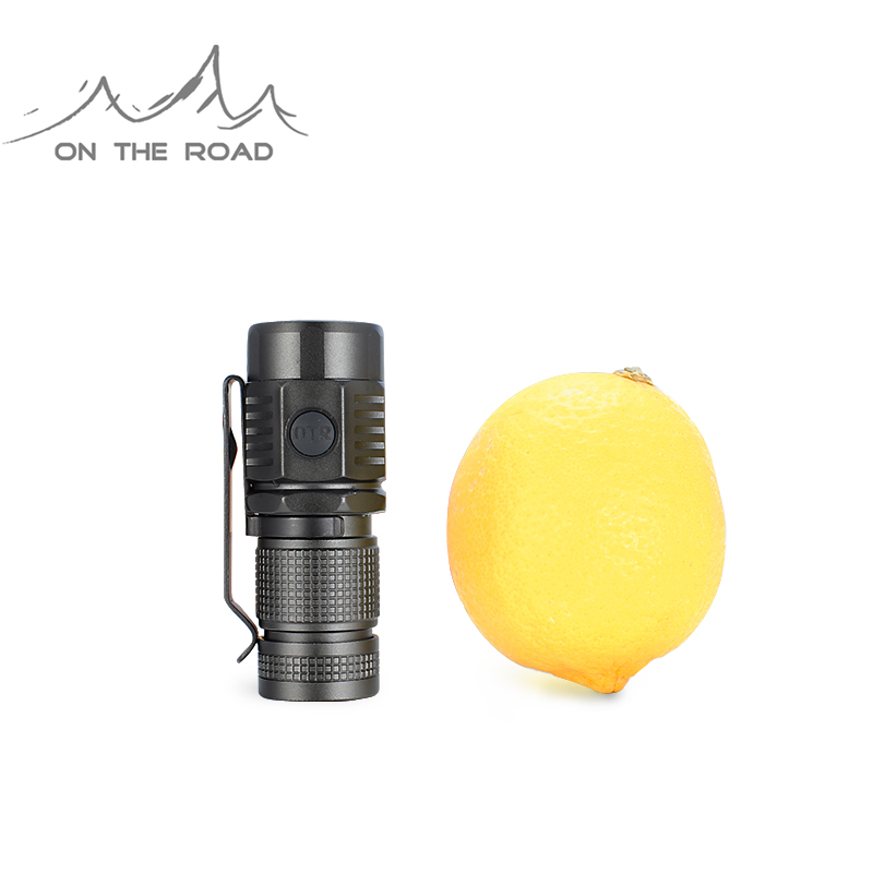 ON THE ROAD U16 USB Flashlight Type-C USB Direct Charging Mini LED Flashlight Torch Outdoor Flashlight Small
