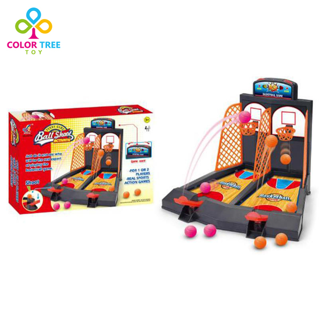 5300ca249e5db6 Kids Creative Toys Fingers Basketball Ball Shoot Parent-child Double Game  Board Games Educational Toys