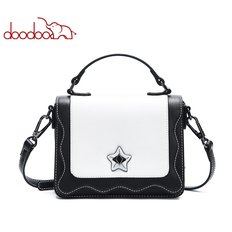 DOODOO Women Bag Female Shoulder Crossbody Bags Ladies Artificial Leather Mosaic Pattern Water Wave Texture 2018