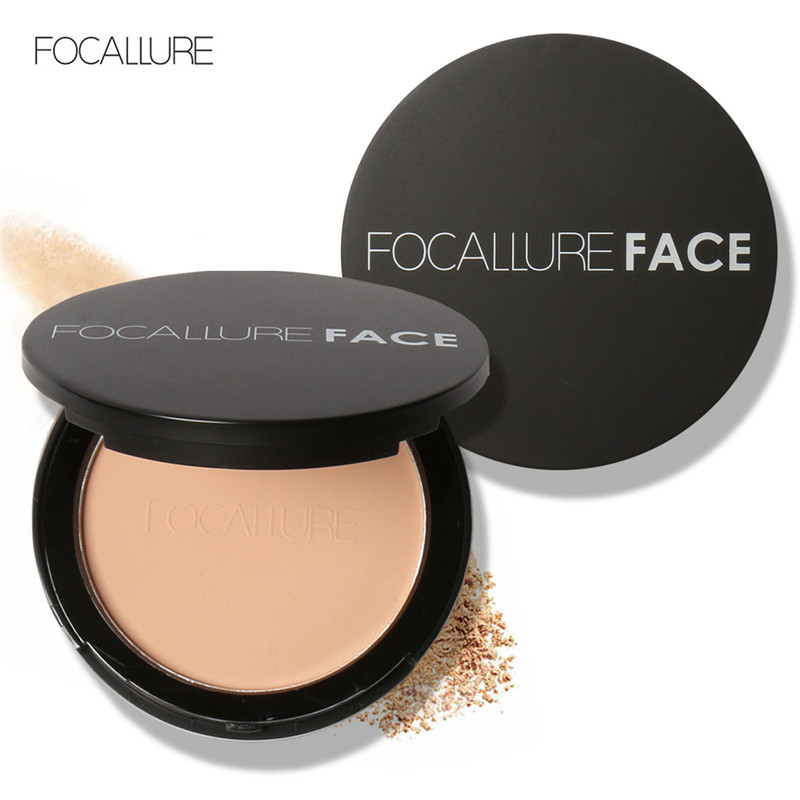 FOCALLURE Pressed Face Makeup Maquiagem Batom Cosmetics Powder Makeup Powder Palette Skin Finsh