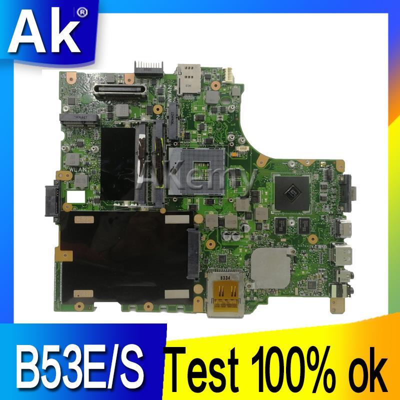 AK B53E/S Laptop Motherboard For ASUS B53E B53S B53F B53J B53A B53 Test Original Mainboard