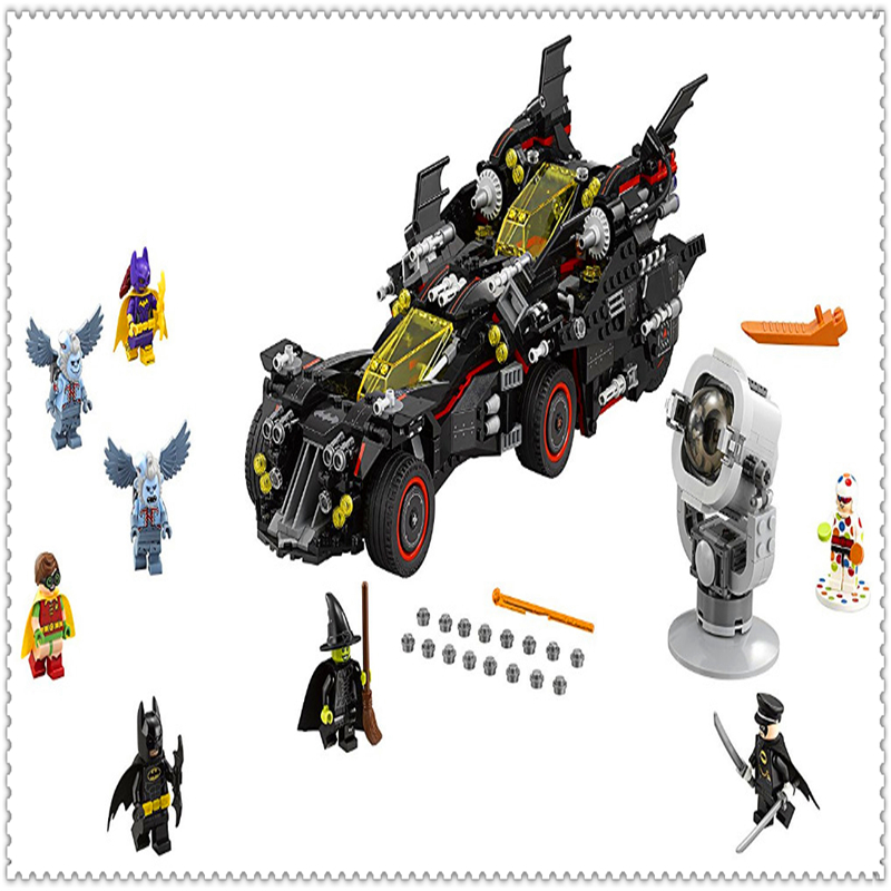 LEPIN 07077 Batman Series Ultimate Batmobile Building Block 1496Pcs DIY Educational  Toys For Children Compatible Legoe decool 7118 batman chariot super heroes of justice building block 518pcs diy educational toys for children compatible legoe